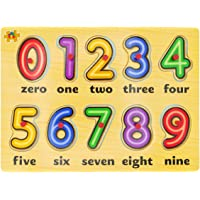 Kids Mandi Wooden Learning Educational Board for Kids with Knobs, Colorful Wooden Puzzle Tray