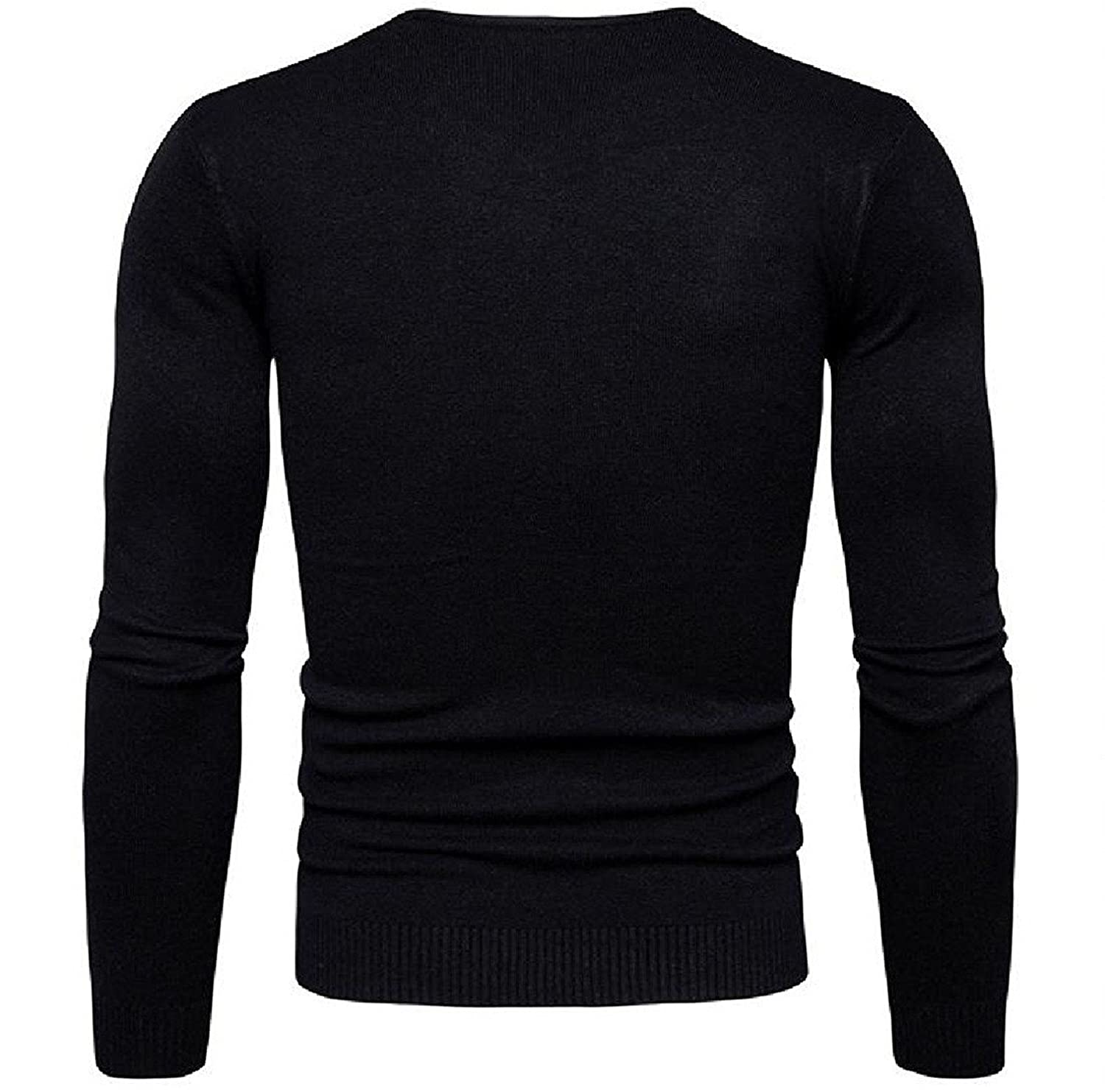 Robert Reyna Unique Mens V NNeck Classic Long Sleeve Solid Pullover Knit Cardigan Sweater
