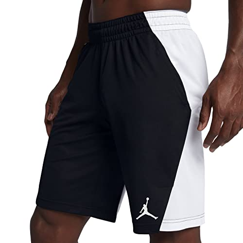 628ad783b4f7db Nike Mens Jordan Flight Basketball Shorts Black White 861496-014 Size  X-Large  Buy Online at Low Prices in India - Amazon.in
