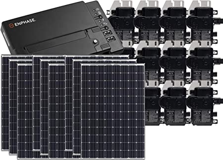 Amazon Com Treepublic High Efficiency Residential Solar Panel Grid Tied System Panasonic Hit 335w Solar Pv Panels W Enphase Microinverter System Iq Envoy Consumption Monitoring 6kw Garden Outdoor