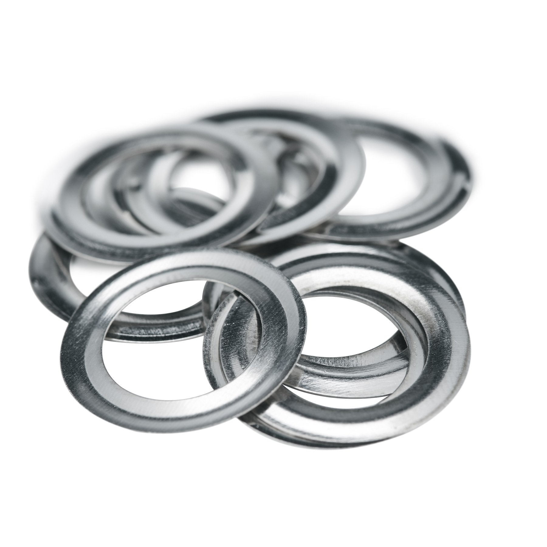 Pinty 1000 Grommets + 1000 Washers - Nickel Finish - #2 Size, 3/8'' Eyelets by Pinty (Image #6)
