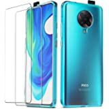 QHOHQ Case for Xiaomi Poco F2 Pro/Redmi K30 Pro with 2 Pack Screen Protector, Transparent Soft Silicone TPU Cover - Tempered