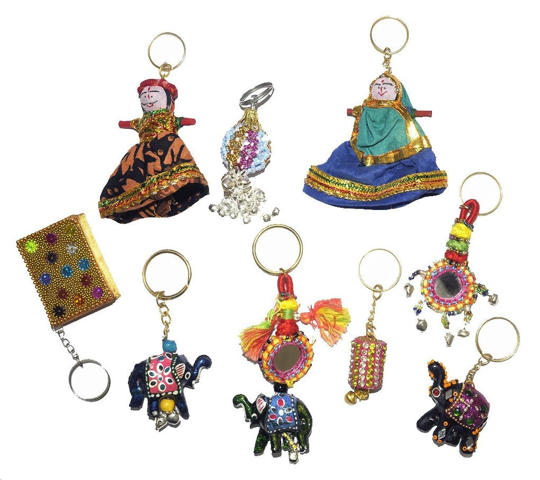 Handmade Puppet Elephant Beautiful Keychains For Women Set Of 8 Pcs