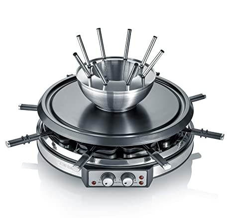 Severin RG 2348 Combinación de Raclette, Cable de alimentación XXL, 1.900 W, Incluye