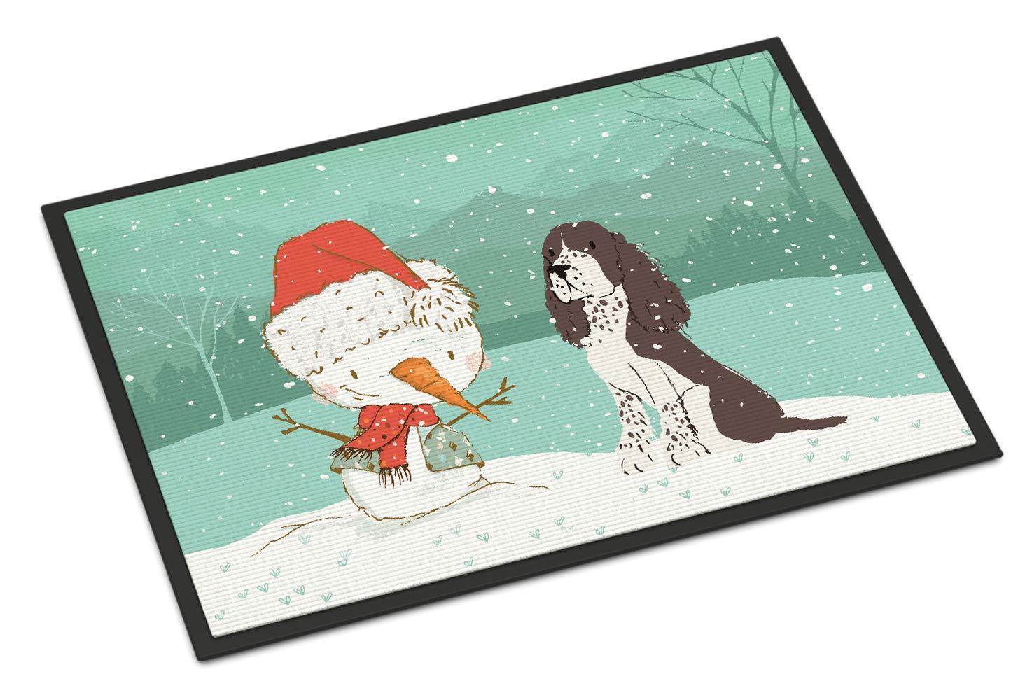 Carolines Treasures Welcome Friends Black Labrador Retriever Doormat 24hx36w Multicolor
