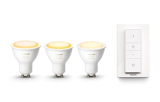 3 Hue Blanca White Led Philips 5 Ambiance Bombillas WIluminación Y Pack De Cálida Fría InteligenteTonos Luz Regulablecompatible Gu105 35jLAcRq4