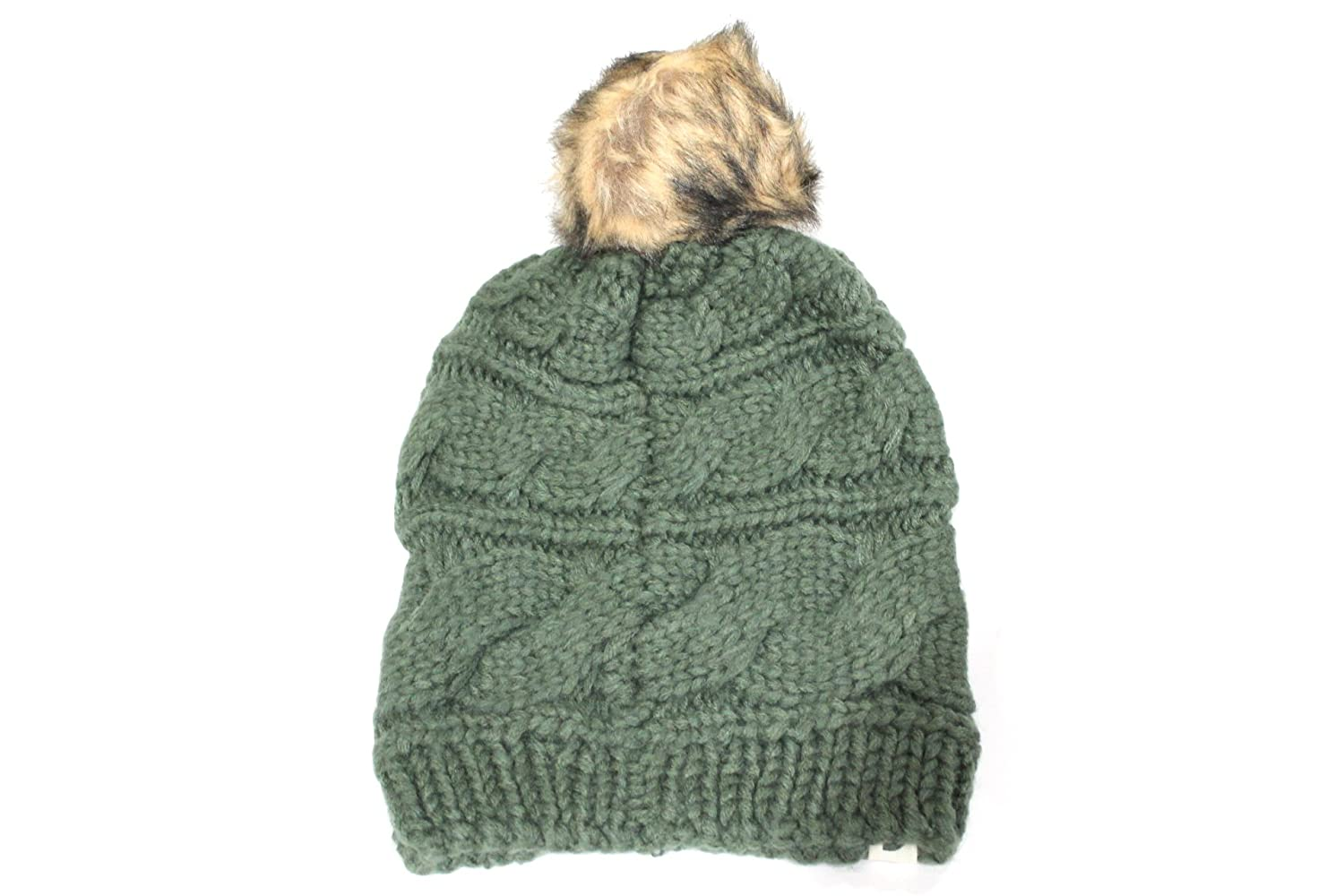 8979cea19 Amazon.com: The North Face Womens Cable Knit Faux Fure Beanie Hat ...
