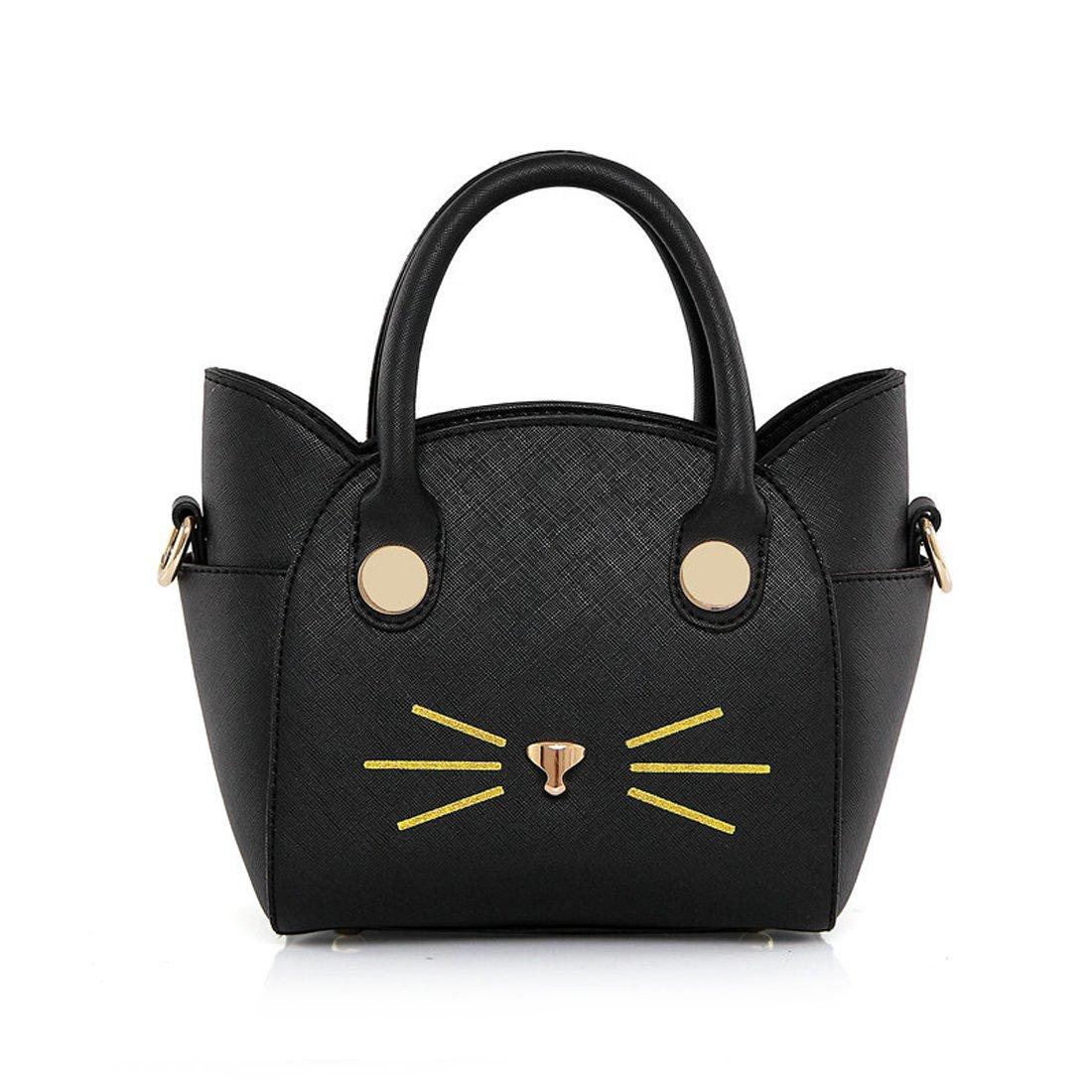 SUKUTU Womens Girls Cute Cat Top Handle bags Cross Body Shoulder Purses Handbags