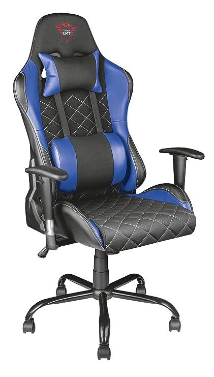 Trust Gaming GXT 707B Resto - Silla para Gaming, Color Azul