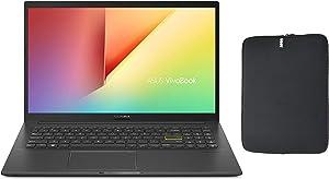 "2020 Asus VivoBook 15 S513 15.6"" FHD Premium Thin & Light Laptop, AMD 4th Gen Ryzen 7 4700U, 24GB RAM, 1TB PCIe SSD, Backlit Keyboard, Fingerprint Reader, Windows 10 Home + Woov Laptop Sleeve Bundle"