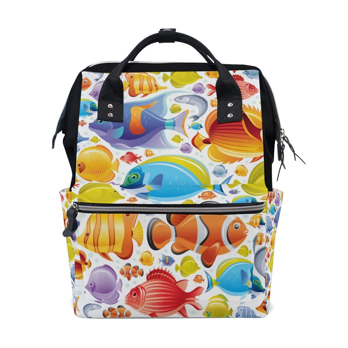 MALPLENA Daypack Amazing Sea Fishes School Bag Travel Backpack