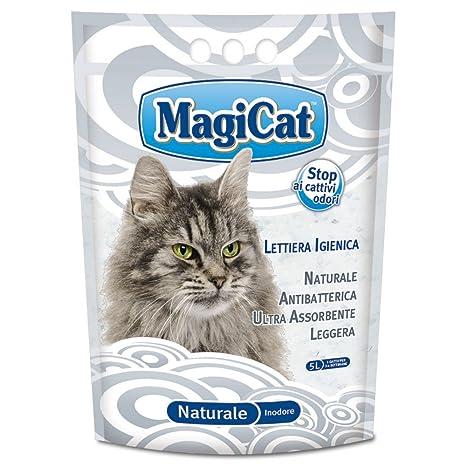 MAGIC CAT aseo naturales de arena para gatos lt.5 - Arena de gatos
