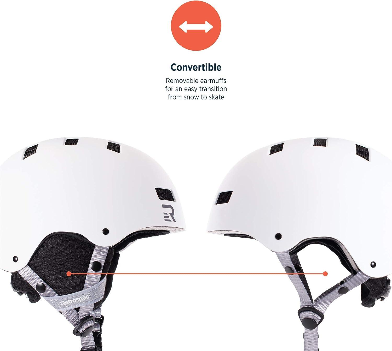 Retrospec Traverse H1 Ski /& Snowboard Helmet Convertible to Bike//Skate