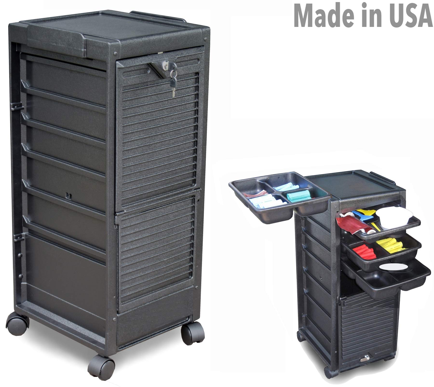 G3-M Medical Dental Physician Roll-About Utility Cart Storage Trolley Lockable Made in USA