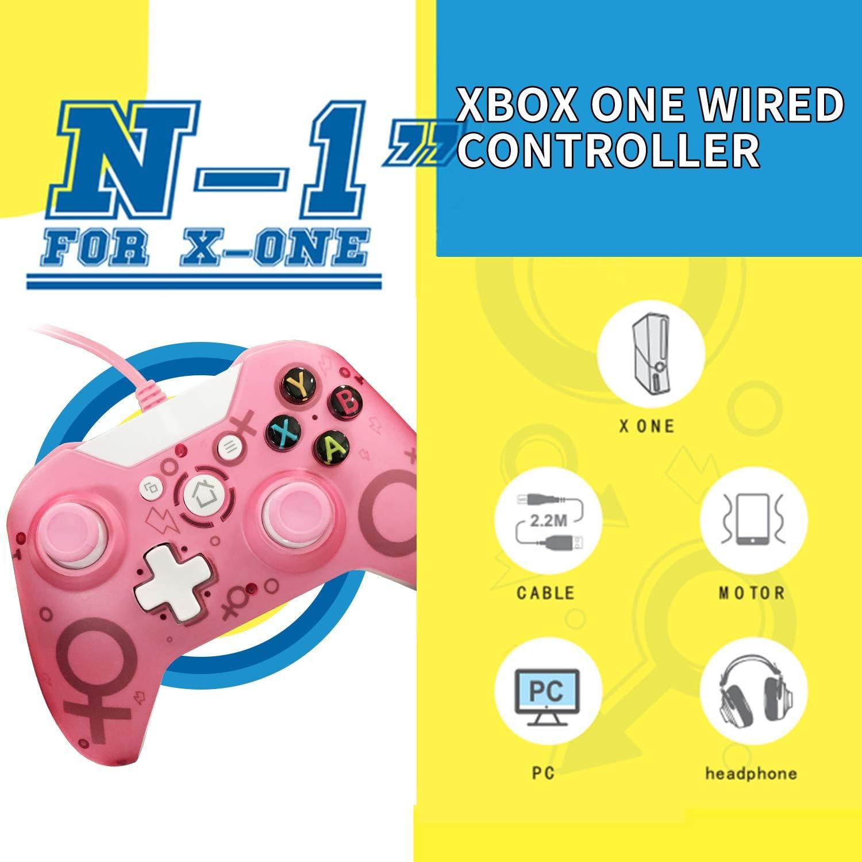 Mando Xbox One con cable, USB Wired Xbox One Controller Joypad para Microsoft & Windows Vista /XP/7/8/10, Xbox One S, XBOX ONE X /One Elite , PC Gamepad: Amazon.es: Videojuegos