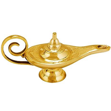 Lámpara mágica oriental de Aladdín de aceite Jini 15 cm ...