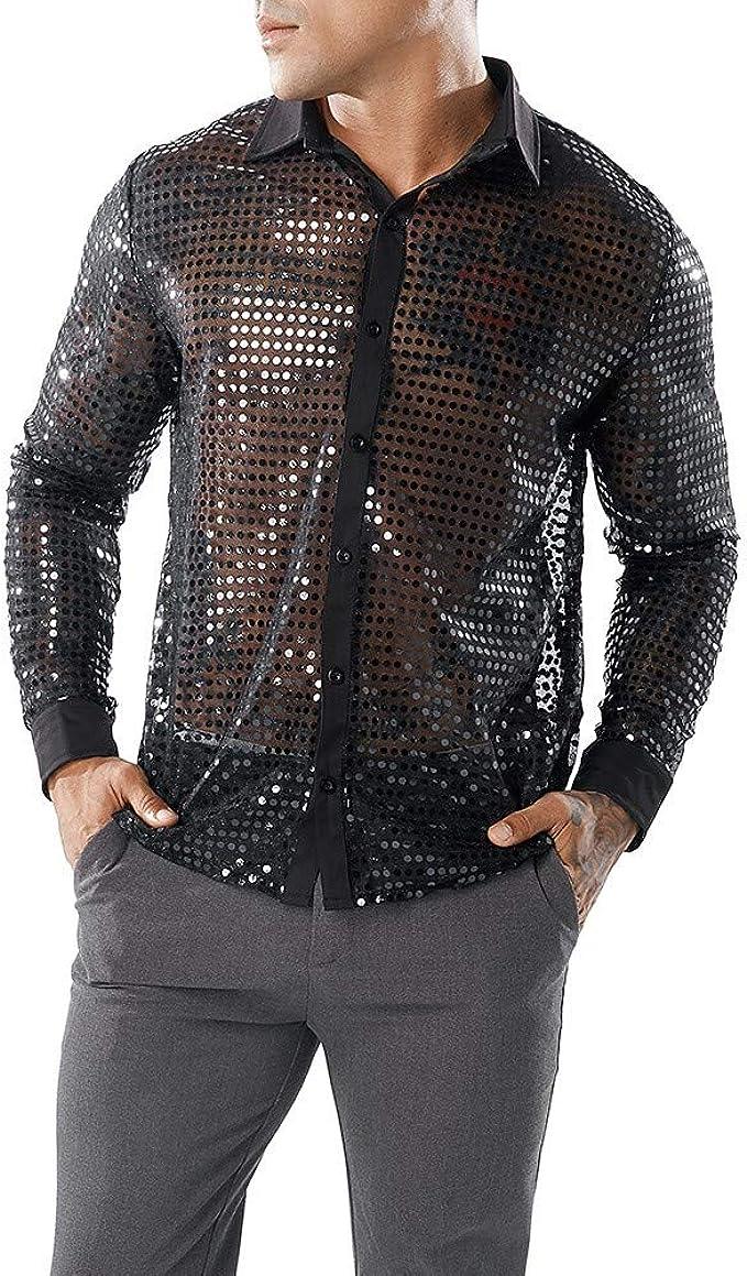 DressU Mens Polo Shirt Color Block Short-Sleeve Lapel Collar Silm Fit Tees