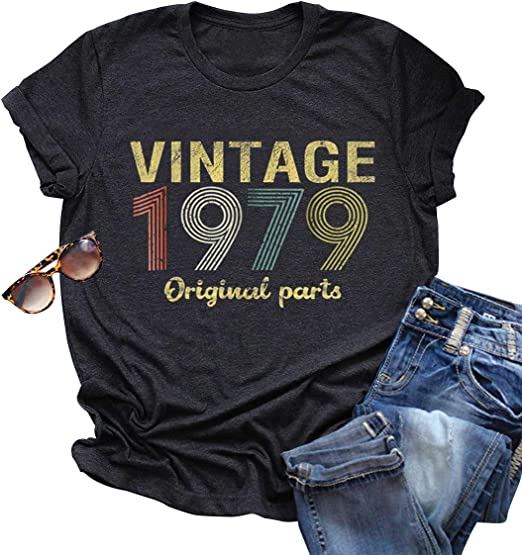 VINTAGE 1979 Ladies Crystal Design Vest  40th BIRTHDAY all sizes