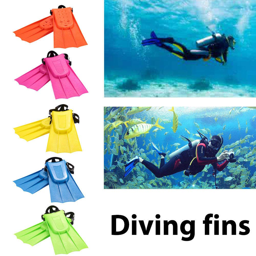 Taiguang Adult Snorkeling Diving Swim Short Fins Flippers with Adjustable Heel