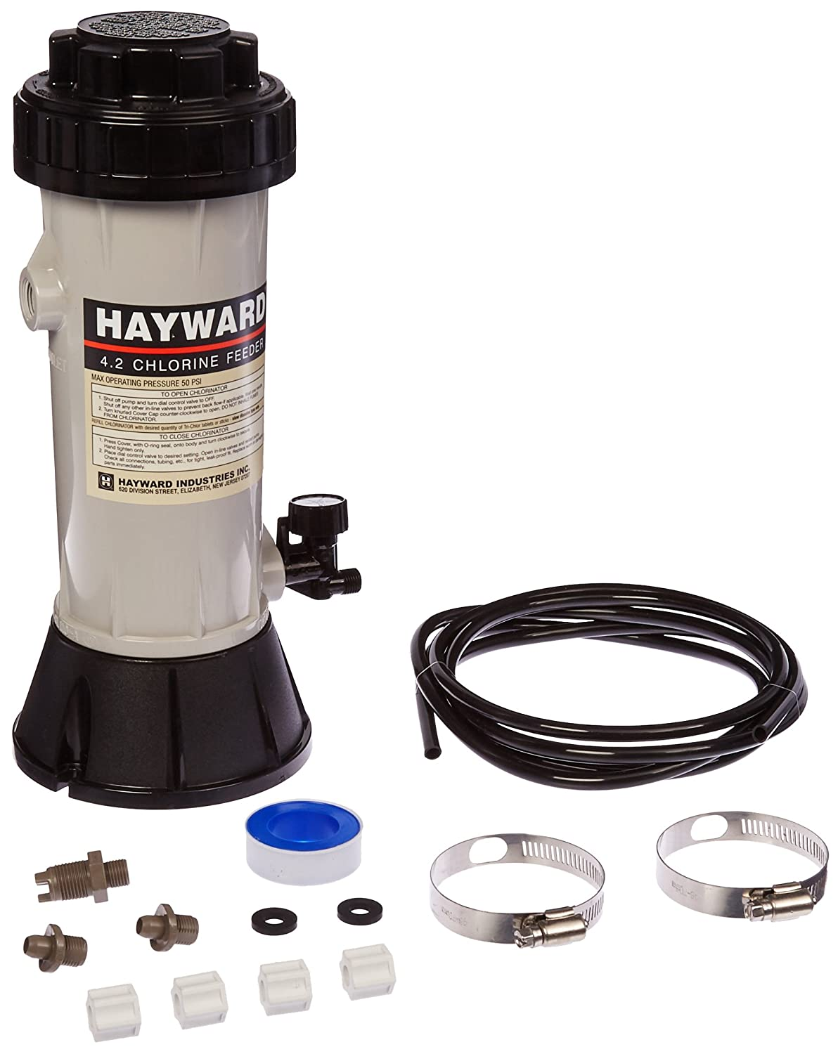 chlorine parts feeder in chlorinator hayward automatic pool line