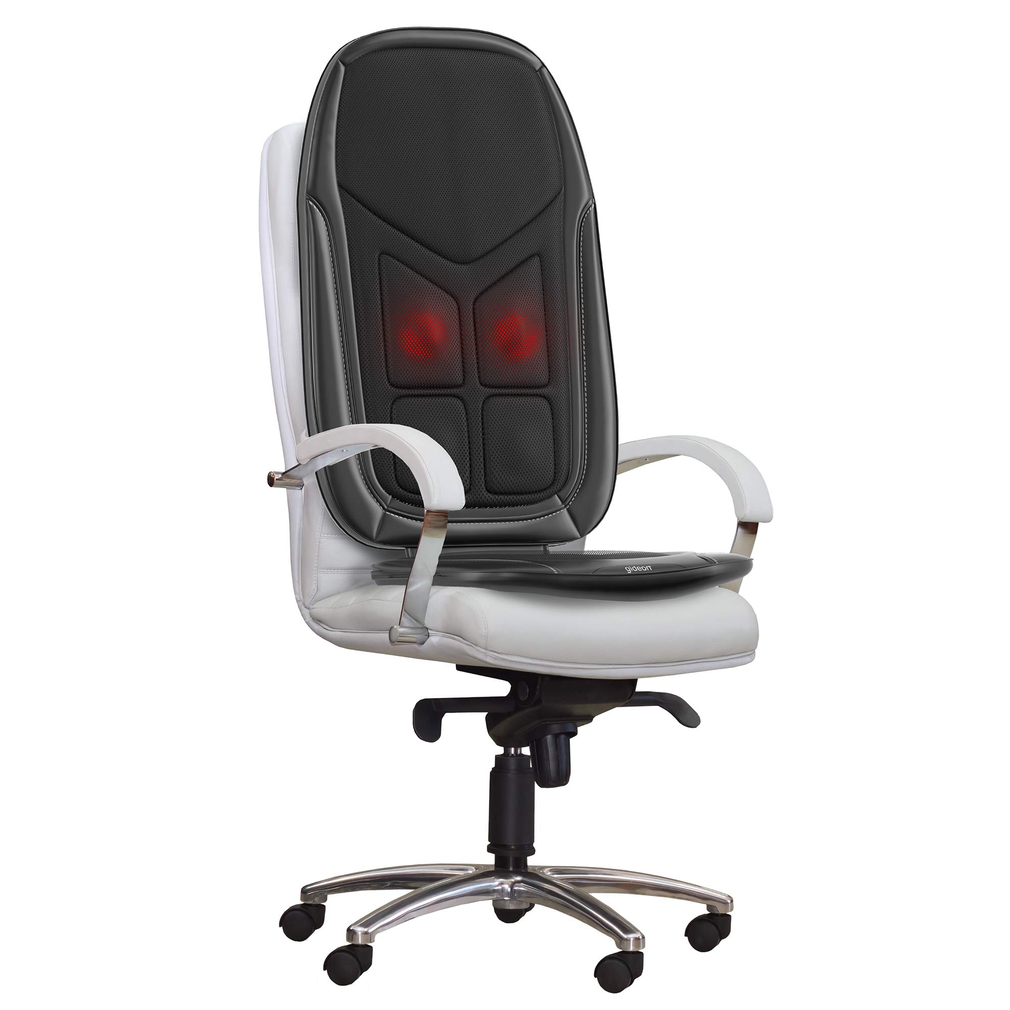 Gideon Shiatsu Massage Seat Cushion with Heat Deep Kneading Back Massager for Car, Home or Office Chair Use