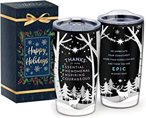 Vacuum Insulated Stainless Steel Tumbler – Splash Resistant Double Wall Large Coffee Cup with Slide Lock Lid for Hot and Cold Drinks, Home & Outdoor Travel Holiday Mug 20-Oz