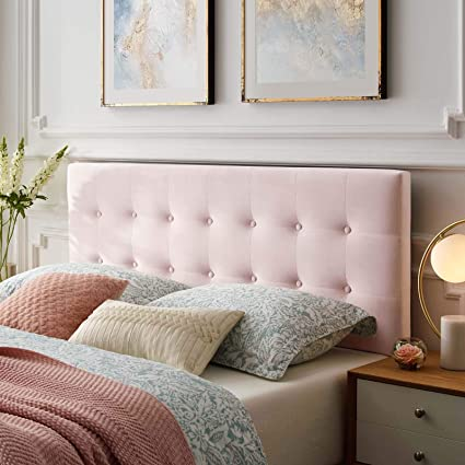 quality design e1a56 66ae1 Modway MOD-6116-PNK Emily Queen Biscuit Tufted Performance Velvet  Headboard, Pink