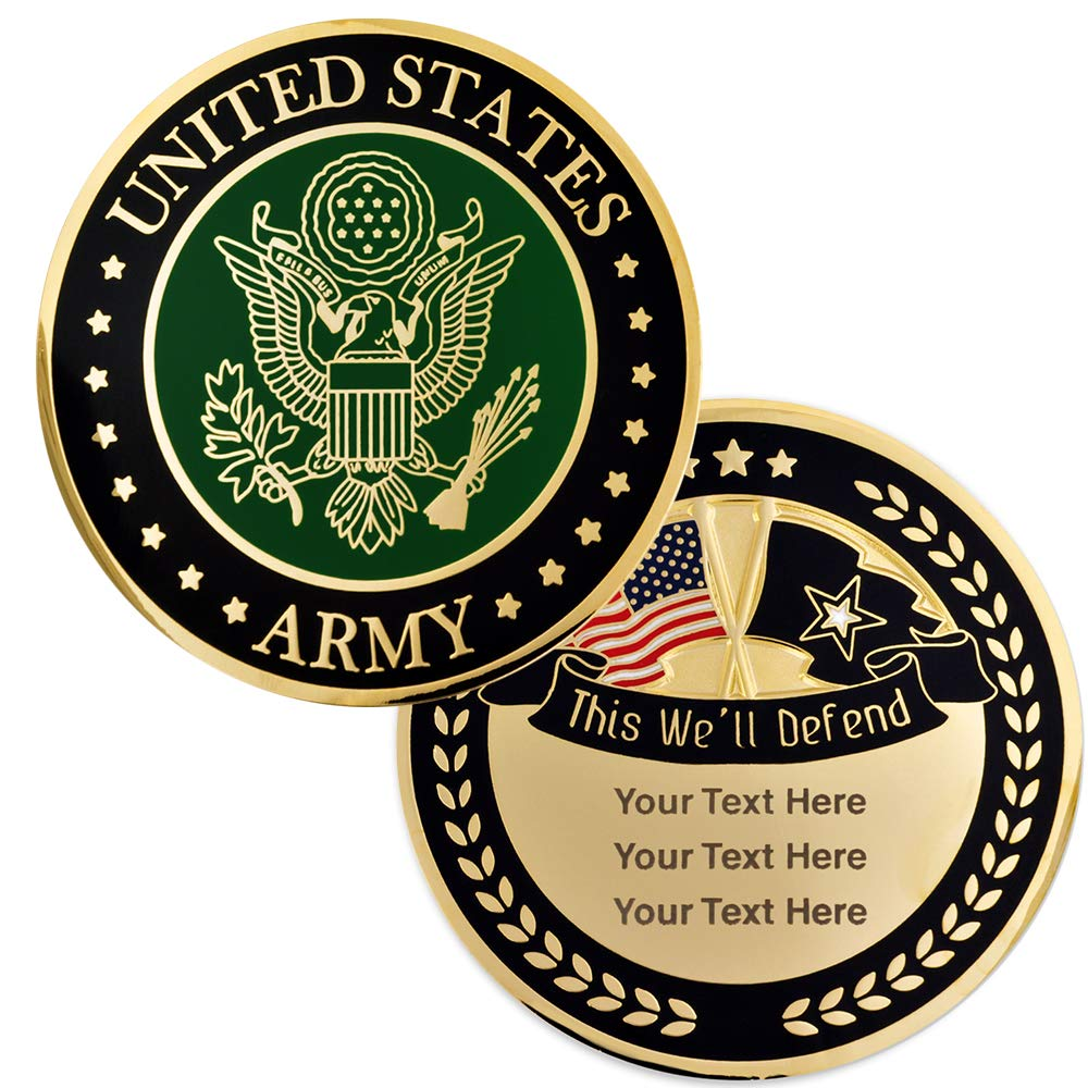 PinMart Military U.S. Army Custom Engraved Personalized Challenge Coin Gift