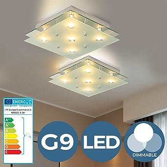 LED Design Decken Leuchte Glas Kugel Spot Küchen Lampe Haus Flur Beleuchtung G9