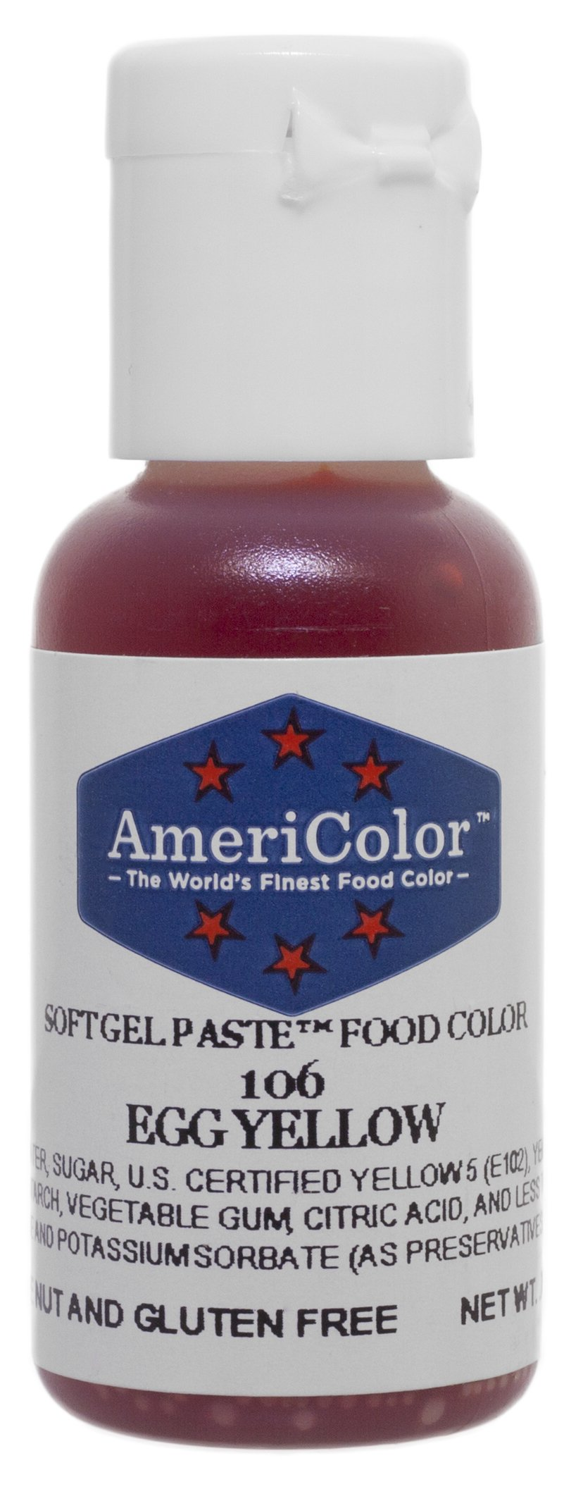Americolor Soft Gel Paste Food Color, .75-Ounce, Egg Yellow