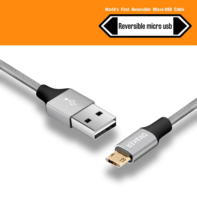 Micro USB Kabel Nylon - Omaker Micro USB Ladekabel mit: Amazon.de ...