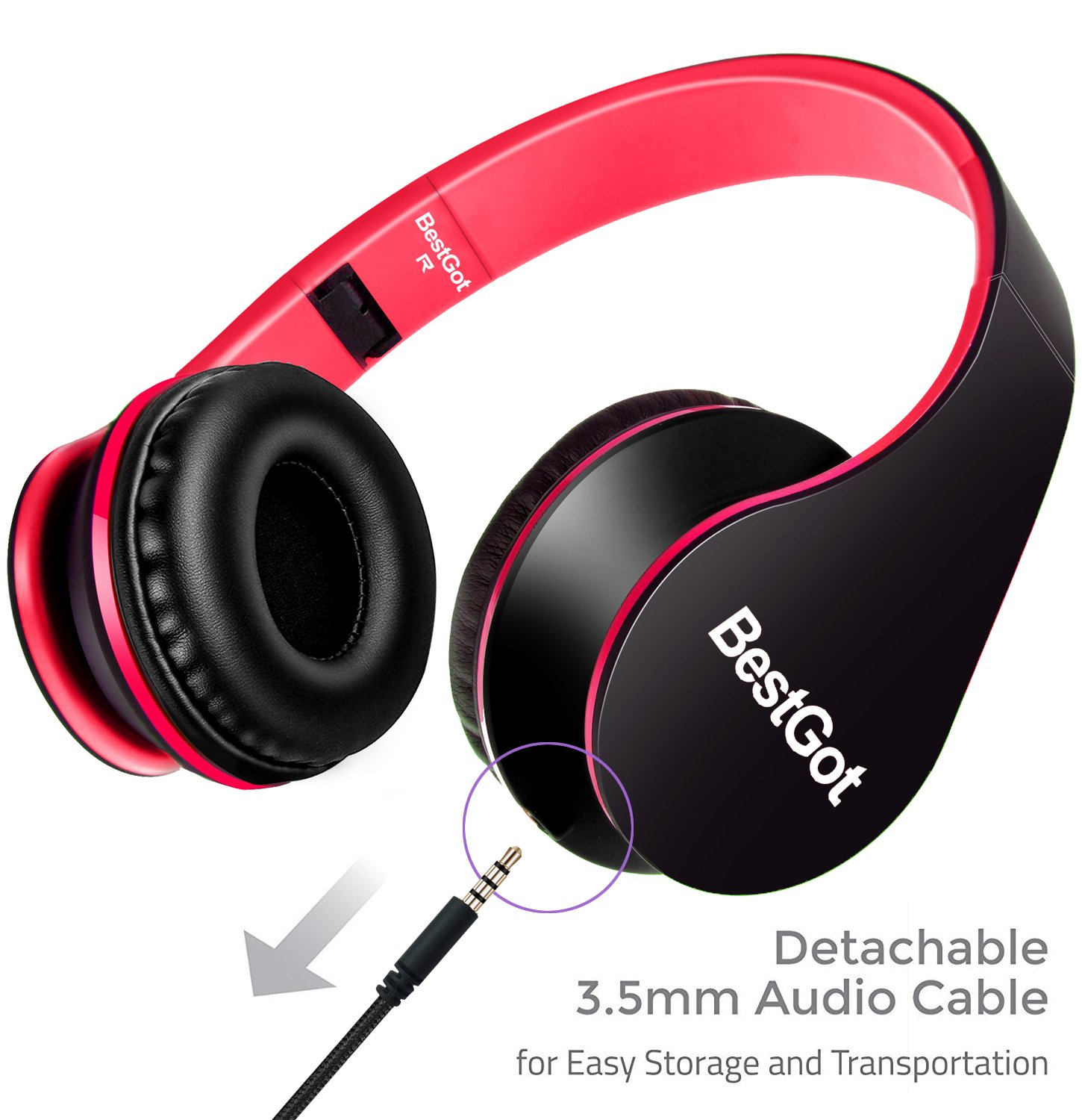 Headphones over ear for girls/kids/adult with Microphone Volume Control for  iPhone,iPad,iPod,Android Smartphones,PC,Laptop,Mac,Tablet,Headphone
