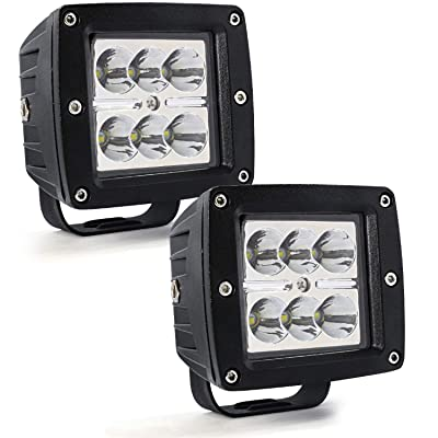 """3"""" LED Pods Light Bar,Cube LED Spotlight Off Road Fog Lights Driving Work Lights 24W 12V 24V for Cars Trucks Jeep Boats: Automotive"""