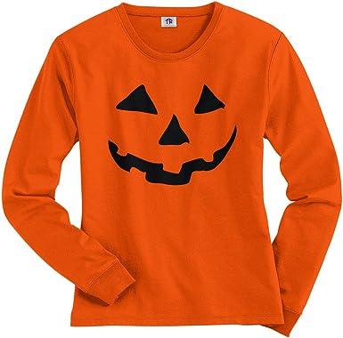 Womens Blouse Halloween Cat Pumpkin Pattern Long Sleeve Sweatshirt Pullover