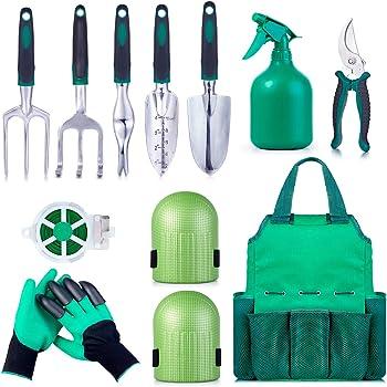 Amazon.com : UKOKE Garden Tool Set, 12 Piece Aluminum Hand Tool Kit ...