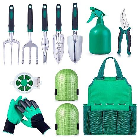Amazon.com: Garden Tool Set Gardening Bag Accessories 12 Pieces Kit ...