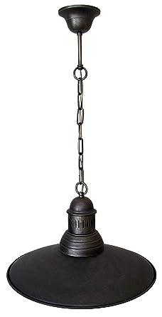 Lámpara colgante colonial estilo antiguo de 1 luz grande ...