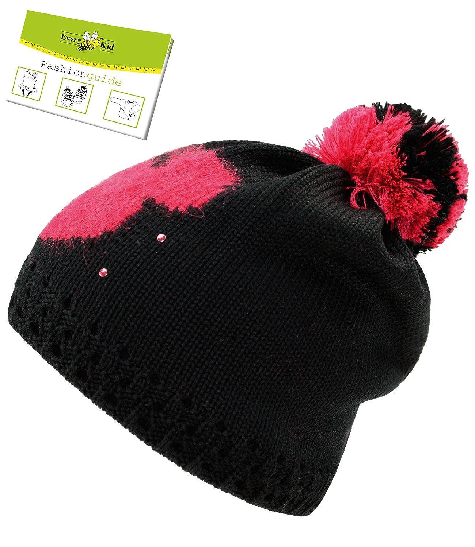 Maximo Chapeau De Promenade Bonnet À Pompon Cap Filles Casquette Pour Enfants D'Hiver Strass (MX-63575-238700-W16-MA0) incl. EveryKid-Fashionguide