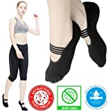Yoga Socks for Women Non Skid Socks with Grips Barre Socks Pilates Socks for Women (Black(1 Pair) Size 5.5-9)