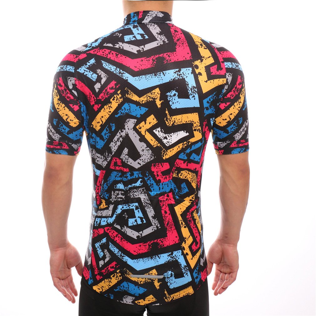 1d6ca4037 Amazon.com  Cycling Jersey Quick Dry MTB Polyester Short Sleeve Bike Biking  Clothes Top  Clothing