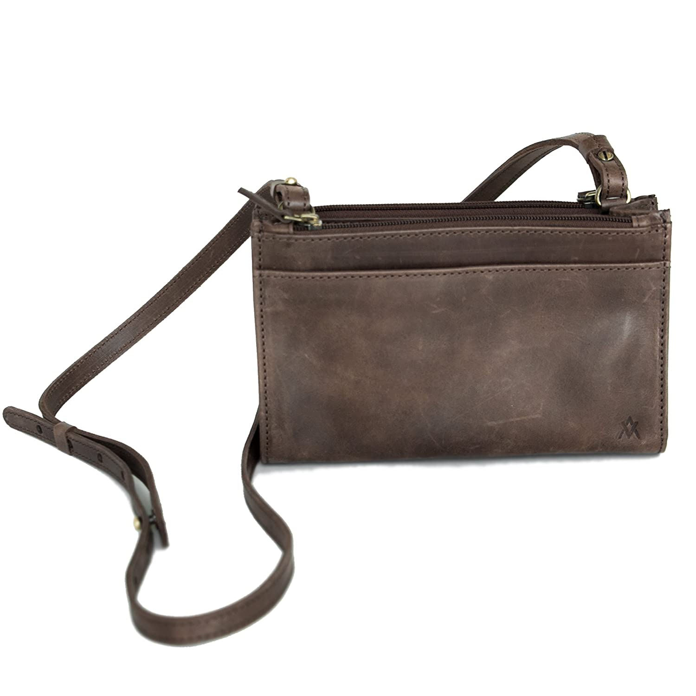 Elevate Women Leather Simple Crossbody Bag