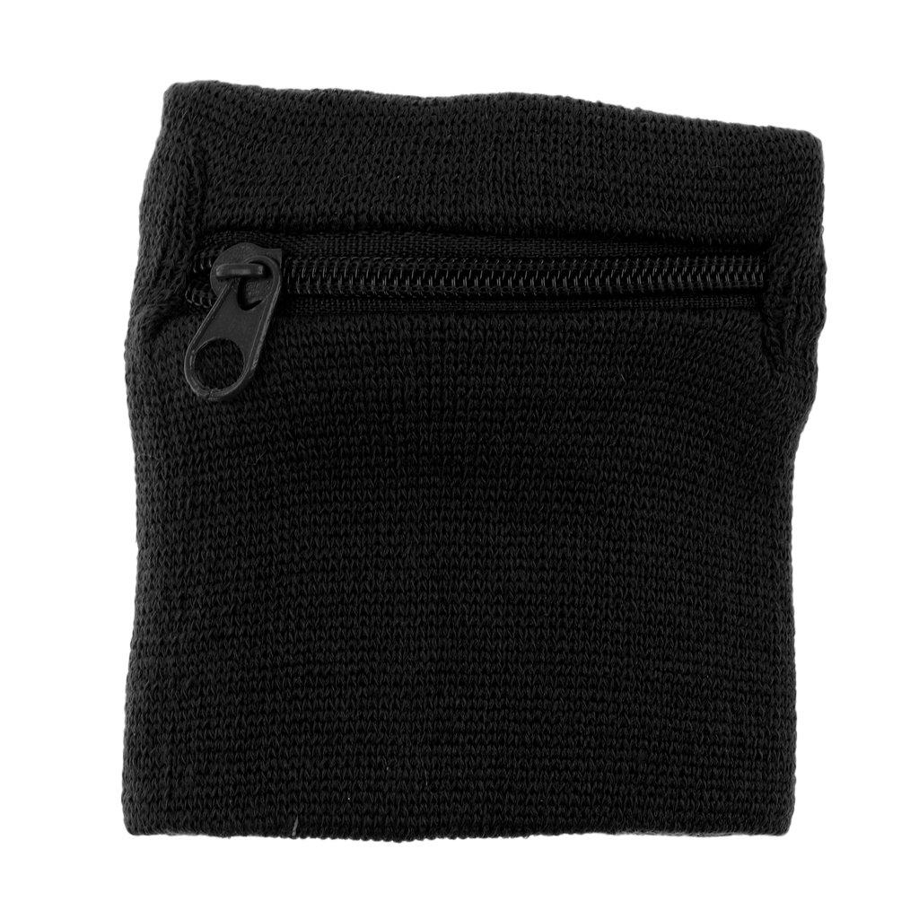 Sharplace Armband mit Rei/ßverschluss Wrist Wallet Schwei/ßarmband mit praktischer Rei/ßverschlusstasche f/ür Laufen Radfahren Fitness