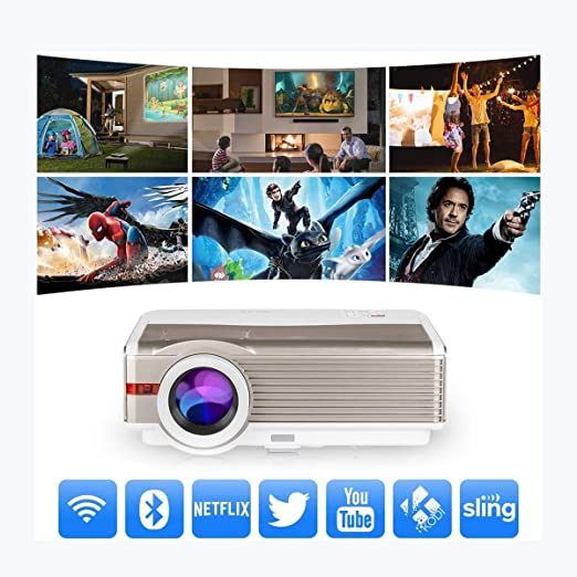 Proyector Proyector Bluetooth WiFi HDMI 8900 Lumen 1080P LCD LED ...