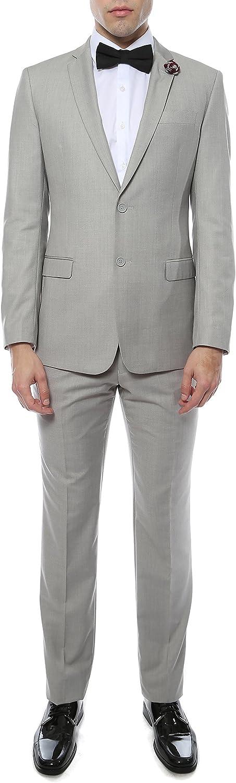 Ferrecci Mens Zonettie 2 Piece 2 Button Slim Fit Suit