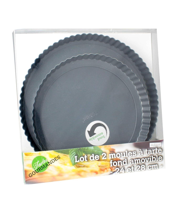 ARD'TIME TG-2RD Juego de 2 moldes de Tarta Desmontable Wallpaper Ronda Forma