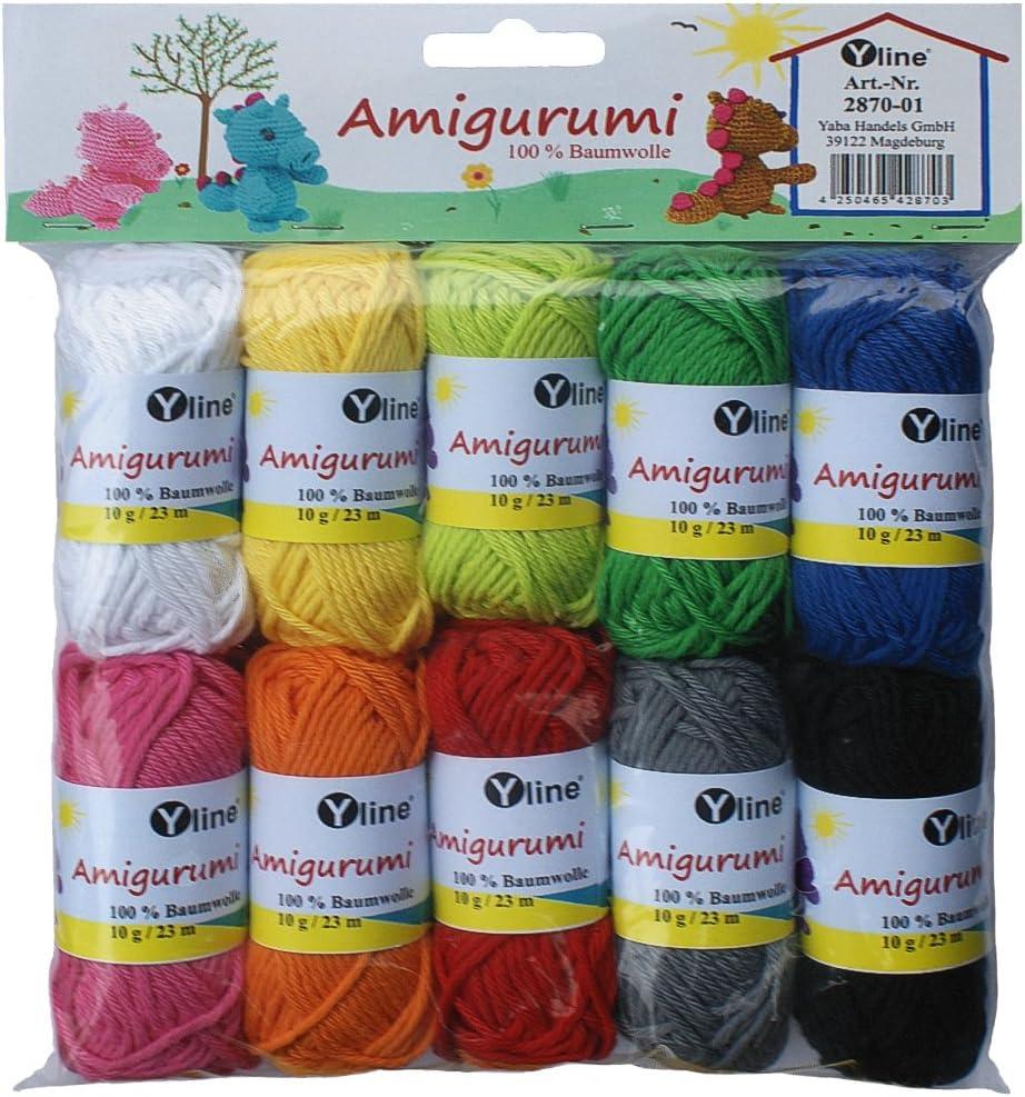 Surtido Amigurumi lana 10 knäuel A. 10 g, 100% algodón, hilo ...