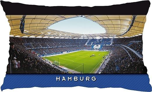 Hamburgo Estadio Tarjetas postales de cojín, weiß, 60 cm x ...