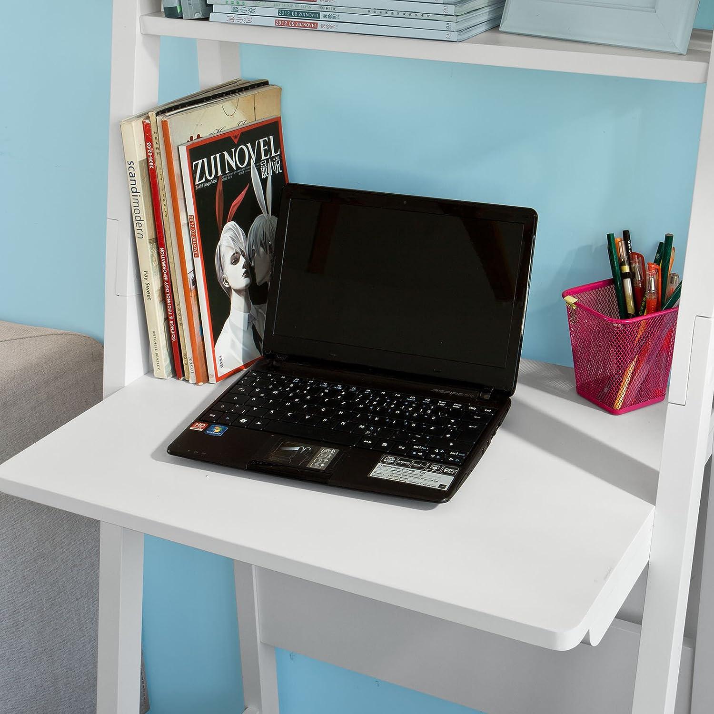 Sobuy® moderno scaffale a scala con scrivania salvaspazio colore ...