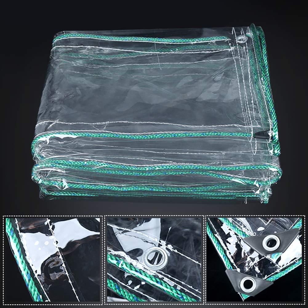 Lona gruesa de Pvc transparente con ojales de aluminio. Opción de tamaños.