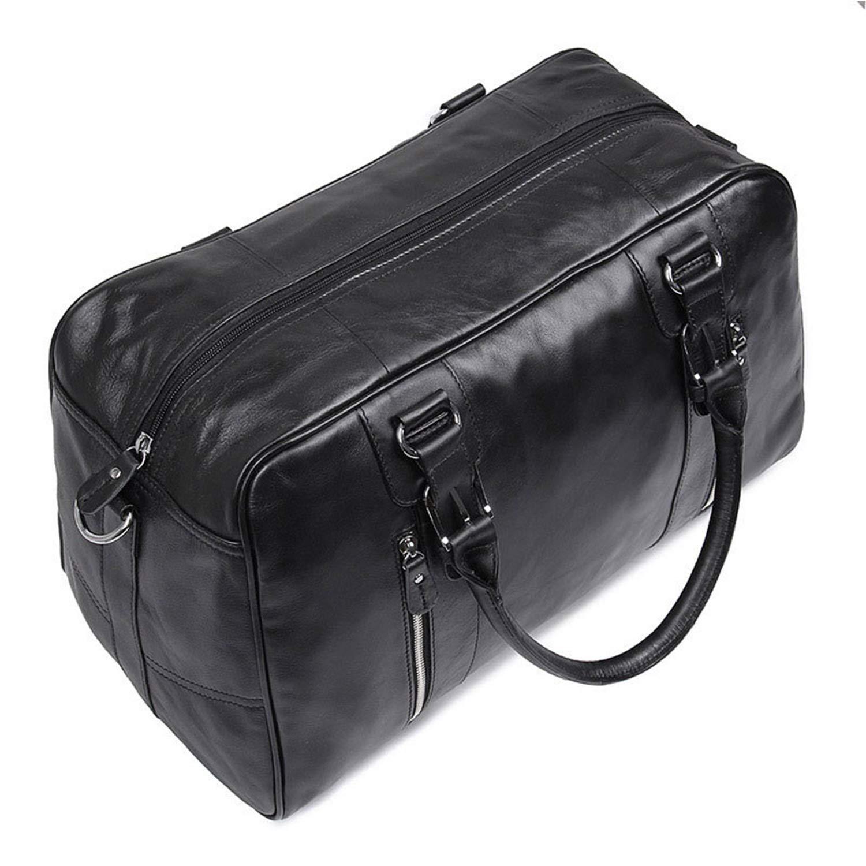 Color : Black, Size : L MUMUWU Mens Shoulder Bags Casual Outdoor Travel Bags Head Layer Oil Wax Leather Travel Bag Retro Casual Mens Tote Bag Shoulder Bag Men